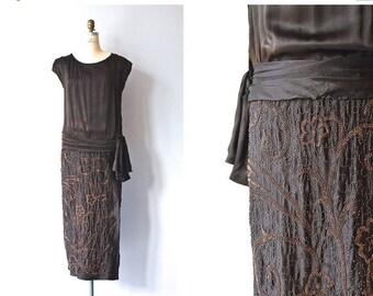 25% OFF SALE Favor of Fortune dress | 1920s beaded silk dress • vintage 20s dress