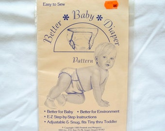 Vintage Better Baby Diaper pattern, 1990, unopened, NOS, eco-friendly