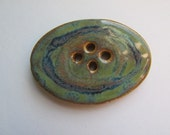 Big Oval Mirage Button, Stoneware button, handcrafted button, Big buttons, big button, ceramic buttons, handmade buttons