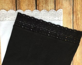 Lot of 2 New Lace trimmed Maternity Belly Band/Bella  Nursing Cover Your choice of size S-M-L