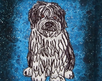 Regal Old English Sheep Dog Iron on Patch