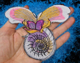 Sea Butterfly Sea Snail Iron on patch