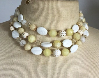 Vintage Necklace 1950s Multistrand Statement