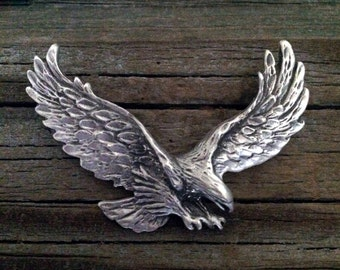 Eagle Brooch | Bird Jewelry | Eagle Jewelry | Wildlife Jewelry | Handcrafted Jewelry | Fine Pewter by Treasure Cast