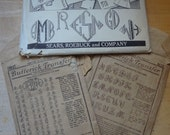 Vintage Embroidery Transfers for Monograms, Three packages