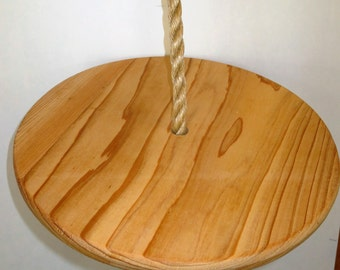 Wood Disc Swing 13 inch Diameter with 10 Feet of Rope FREE SHIPPING