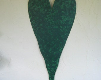 Large Heart Metal Wall Art Sculpture Recycled Metal Wall decor Valentines Anniversary Wedding Custom Colors Emerald Forest Green 25 x 11