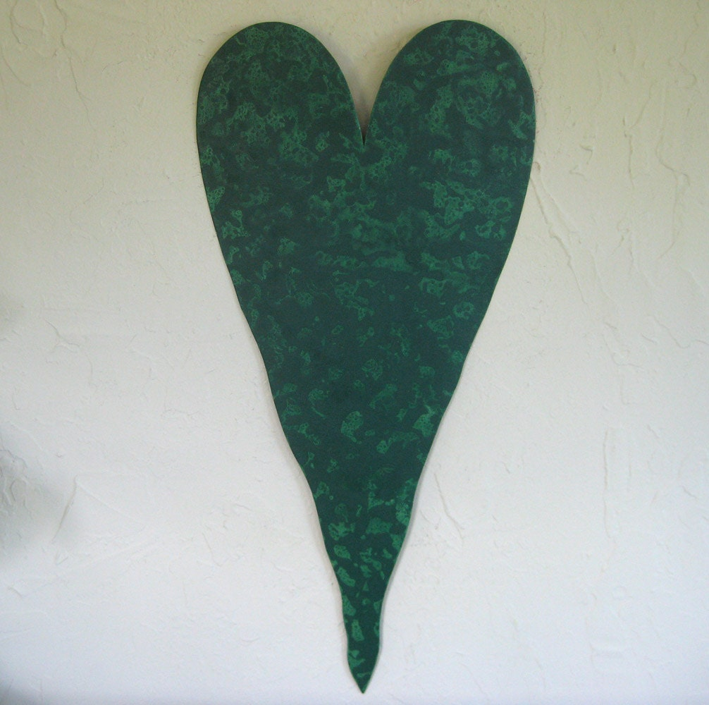 Large Heart Wall Decor : Large heart metal wall art sculpture recycled decor