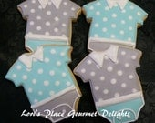 Reserved for Donna---Baby Boy Onesie - 12 Cookies