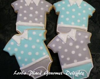 Baby Boy Onesie - 12 Cookies