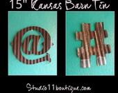 Kansas Barn Tin Symbols and Shapes 15inch