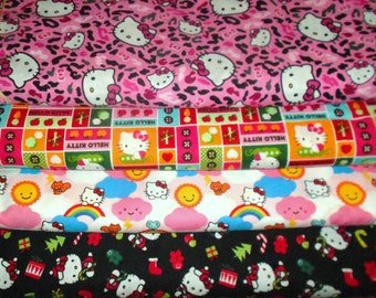HELLO KITTY #2  Fabrics, Sold INDIVIDUALLY not as a group, by the Half Yard