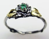 Rose Ring - CUSTOM (adult size w/ diamond)