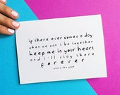 romantic anniversary card winnie the pooh quote birthday notecard keep me in your heart forever romantic valentine card sympathy note card