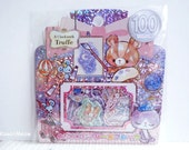 Kamio Japan Sticker Flakes - Cute Bears - 50 Pieces (46385)