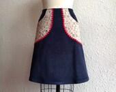 Amalie a-line pocketed skirt Sz 0