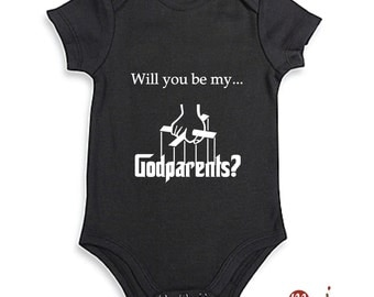 Will you be? Digital File DIY Shirt Iron On Image - Will you be my GodParent? Godfather Inspired