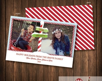 Holiday Photo Card NAUGHTY AND NICE
