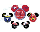 Ships Between July 15-20 Handmade Disney Inspired Nautical 5-Piece Family Magnet Set for Disney Cruise