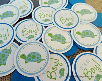Turtle Baby Shower, Turtle Table Confetti, Turtle Baby Shower Decor, Baby Shower Decorations, Turtle Table Decorations, Customized
