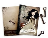 SUMMER SALE - 25% OFF - Once Upon a Time (Il Etait une Fois) - A5 Handmade Notebook