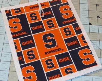 New Syracuse University chalkboard placemat made with Syracuse university fabric
