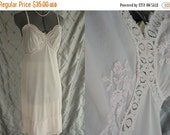 ON SALE 50s 60s Lingerie // Vintage 1950's 1960's Pink Embroidered Slip by Vanity Fair Size 32