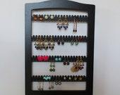 earring rack, jewellery rack,   Earring holder,  jewelry storage,  display  WALL MOUNT, earring organizer BLACK