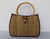 Rattan Bamboo Straw Handbag