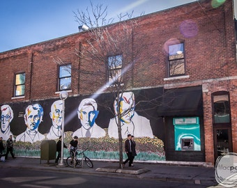 The Bookstore Mural Ann Arbor Fine Art Photograph on Metallic Paper