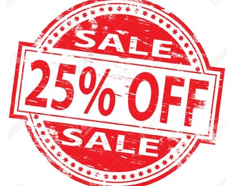 EVERYTHING on SALE! Use coupon code FAC25 for 25% 0ff Your Total Order! (Do not purchase this listing)