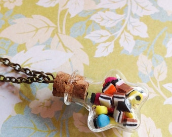 Super Star Allsorts Bottle Necklace