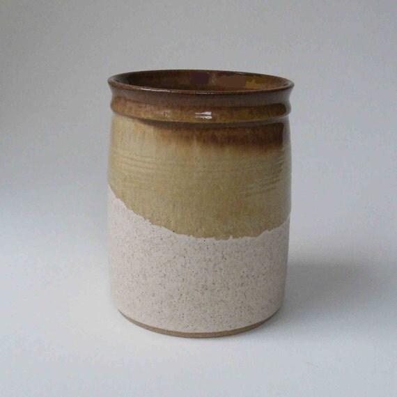 Rustic Kitchen Utensil Holder: Utensil Holder Wooden Spoon Holder Rustic Browns Oatmeal