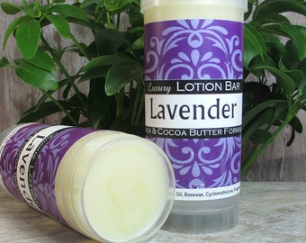 Lavender Lotion Bar, concentrated moisturizing, no preservative, perfect for travel