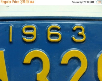 20PercentOff Antique Vintage Metal License Plate from the 1960s