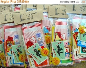 ONSALE Vintage 36 Pc Circus/Carnival/Party pack for Altered Art