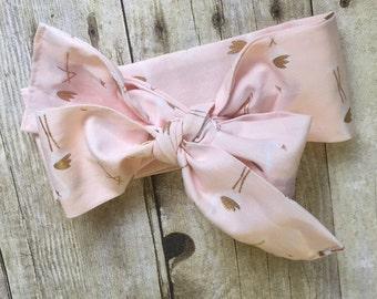 pink flamingo headband, pink flamingo, pink flamingo headwrap, baby shower gift
