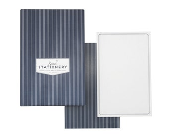 Pinstripe Social Stationery - Letter Writing Sheets | Stationery | Stationery Sheets | Boxed Stationery