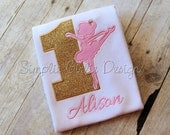 Custom ballet birthday shirt or bodysuit. Ballerina birthday. Personalized. Will customize to match party colors.