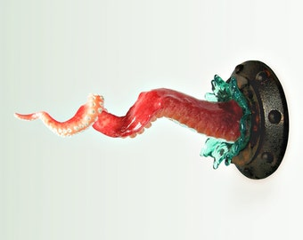 Octopus tentacle sculpture, Twisted tentacle,