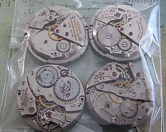 Featured - Steampunk supplies - Watch movements - Vintage Antique Watch movements Steampunk - Scrapbooking b51