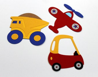 Boys toys dump truck, airplane and car