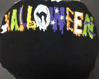 MamaBear All In One, One Size T-shirt Fitted Cloth Diaper, AIO - Cute Embroidered Halloween