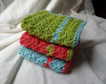 Set of 3 washcloths/dishcloths