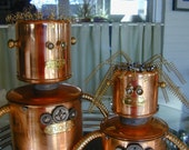 WINI & WILL Found Object  Robot Sculpture Assemblage Metal Recycled Repurposed