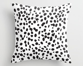 Dalmatian Pattern Pillow w/ Insert | Throw Pillow | Pillow Case | Pillow