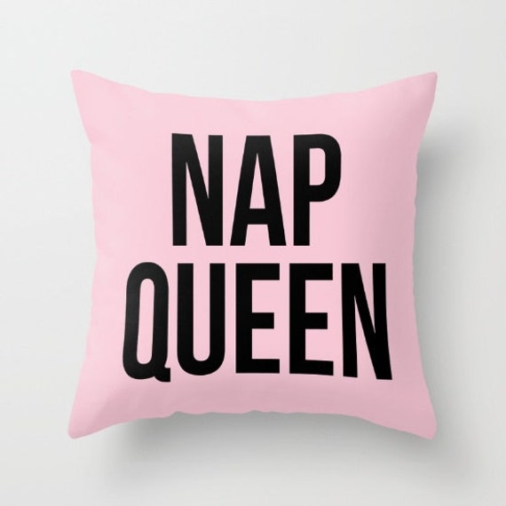 Nap Queen Cotton Pillow | Throw Pillow | Pillow Case | Pillow Cover | Office Decor |  Home Decor | Statement Pillow