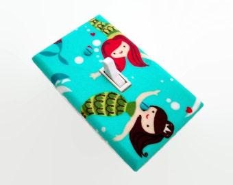 Mermaids Light Switch Cover - Girls Mermaid Nursery Decor - Girls Nursery Decor - Girls Mermaid Bedroom - Toddlers Room - Mermaid Decor