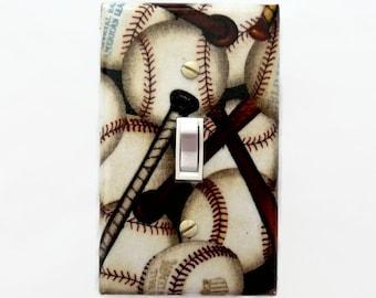 Baseball Light Switch Plate