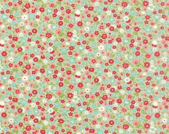 BLACK FRIDAY SALE - 1 yards - Vintage Picnic -  Wildflowers in Gray (55126-15) - Bonnie and Camille for Moda Fabrics